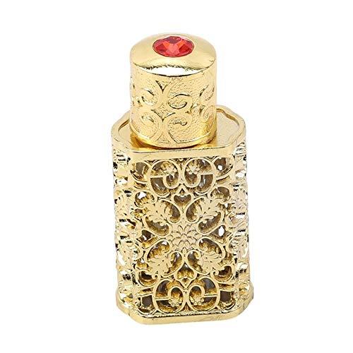 ZZYUBB 3ml Retro Bouteille De Parfum en Métal Huile Essentielle Bouteille Bouteille en Verre Container Royal Wedding Party Decoration (Color : Gold)