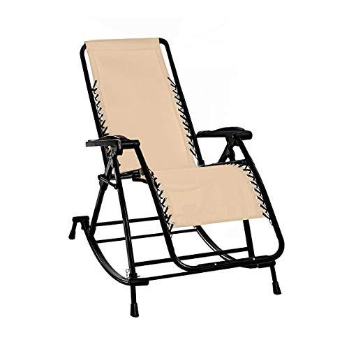 genialo Vario-Schaukelstuhl, 2 in 1: wandelbarer Schaukel- & Liegestuhl für Garten, Terrasse, Balkon | Relaxliege, Gartenliege verstellbar zu Gartenstuhl, Hochlehner