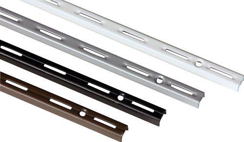 IB-Style - 2 Stück Wandschiene Single | Einreihiges System | 6 Abmessungen | 4 Farben | L 200 cm Weiss - für Regalträger Regalsystem Winkel Regalhalter Regalwinkel - Made IN Germany