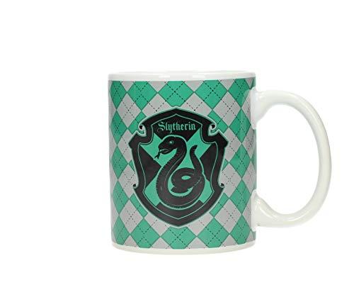SD toys Harry Potter Slytherin Taza, Cerámica, Verde y Blanco, 10x14x12 cm