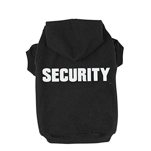 BINGPET Security Patterns Printed Puppy Pet Hoodie, Medium
