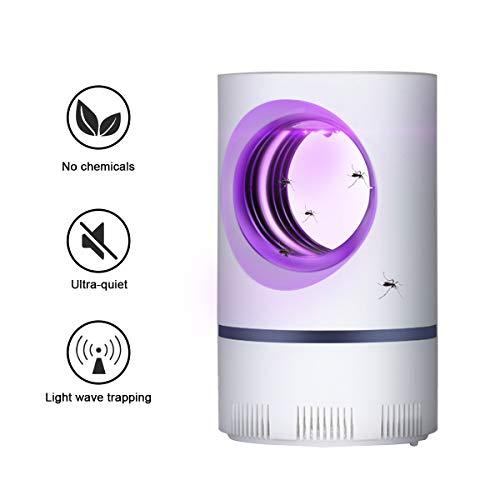QUTAII Elektrischer Insektenvernichter, UV Insektenfalle Mückenlampe LED Mückenvernichter USB Mückenlampe Mückenschutz Mückenfalle Elektrischer Insektenfalle für Innen Außeneinsatz