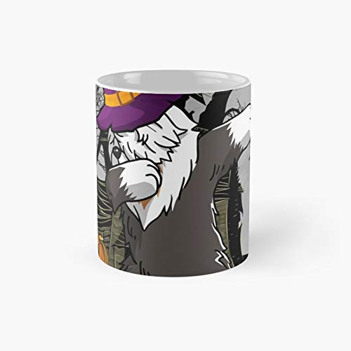 Dabbing Old English Bruja Dab Dog Funny Pumpkin Halloween Costume Classic Mug | El mejor regalo tazas de caf de 325 ml