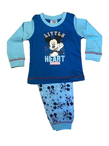Disney Baby-Schlafanzug für Jungen, Micky Maus Gr. 74, blau