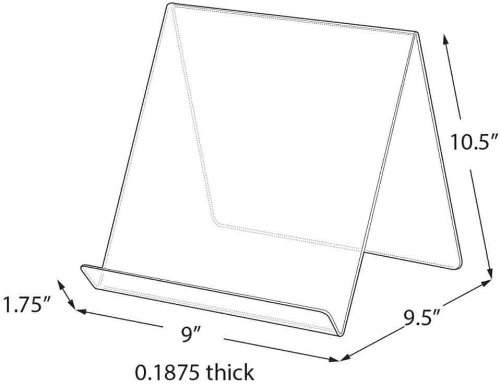 Azar Displays 515450 9-Inch Width by 9.5-Inch Depth by 10.5-Inch Height Acrylic Easel Display, 10- Pack
