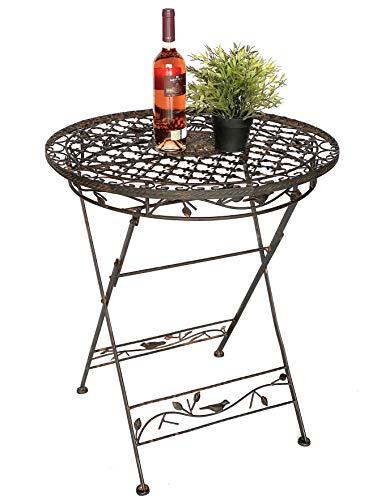 Mesa 'Avis' plegable de metal 1850 forjado mesa de jardín jardín jardín jardín
