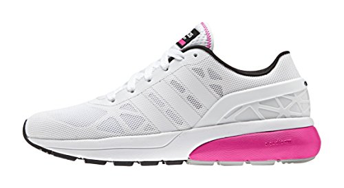 adidas Damen Cloudfoam Flow Sneaker, weiß/pink, 38 EU