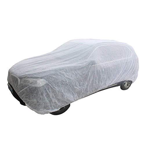 YunJiadodo 1 Stück 149,6 x 259,8 cm Universal atmungsaktiv Vollgarage Vollgarage Vlies Auto Outdoor Sonnenschutz Anti-Verschmutzung Abdeckung Weiß (L)