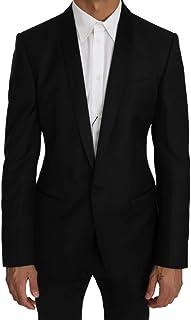 Dolce & Gabbana Black Wool Silk Gold Blazer Jacket