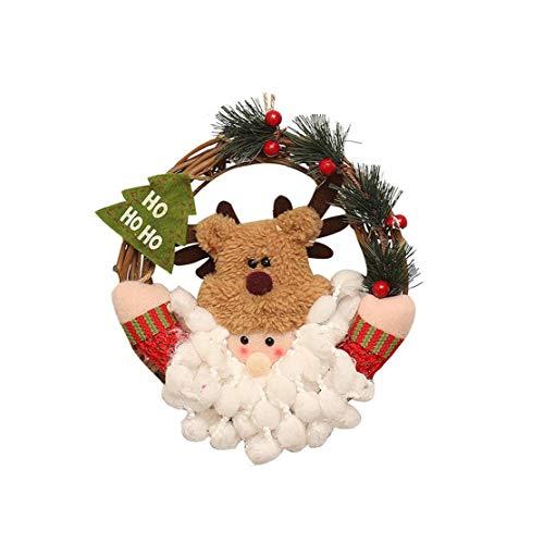 Guirnalda de Navidad con figura de fieltro de adorno – tamaño: 5 x 5 x 5 cm