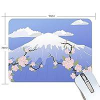 Jiemeil マウスパッド 高級感 おしゃれ 滑り止め PC かっこいい かわいい プレゼント ラップトップ などに サクラ 富士山 風景 絵 日本