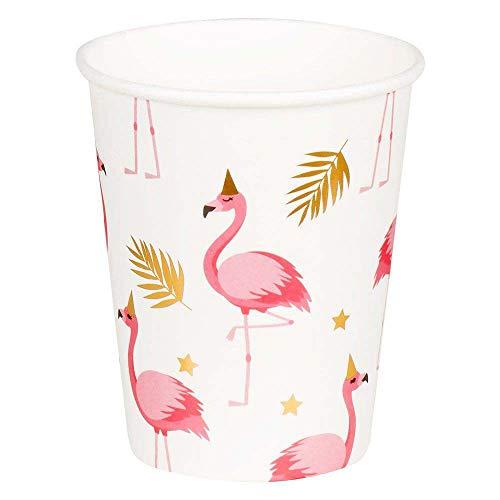 Boland-BOL52556 Vasos con Flamencos, color rosa (Ciao Srl BOL52556)