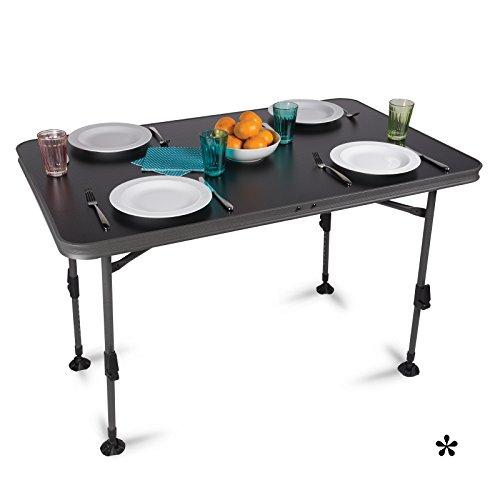 H-Collection Aluminium Klapptisch mit wasserdichter Tischplatte 115x70cm Campingtisch Gartentisch Koffertisch Falttisch Tisch Bierzelttisch