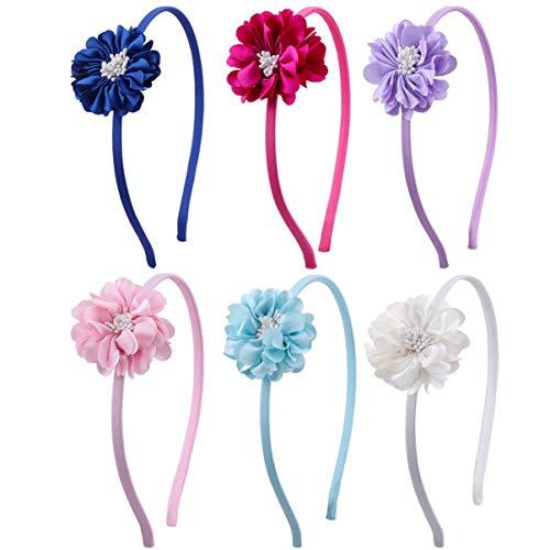 STOBOK Kinder Blume Stirnbänder Haarreifen Kopfschmuck für kleine Mädchen,Packung mit 6