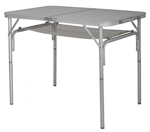 Eurotrail klaptafel aluminium campingtafel met netopbergruimte - stabiel - opvouwbaar met verstelbare poten + draagtas - 4,9 kg - verkoop door Holly ® producten Stabilo - innovaties gemaakt in Duitsland -