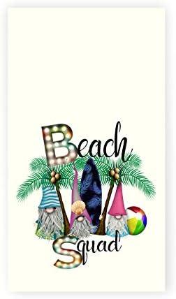 Gnome Beach Print Kitchen Tea Towel Hanging Hand Towel Summer D cor Hostess Gift product image