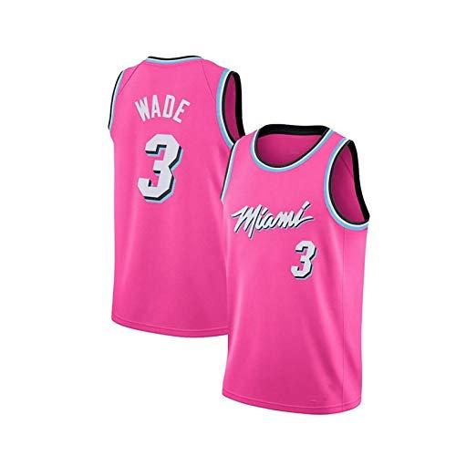 YENDZ 2021 hombre bordado uniforme de baloncesto, Calor Nº 3 Wade maillot M Rosa