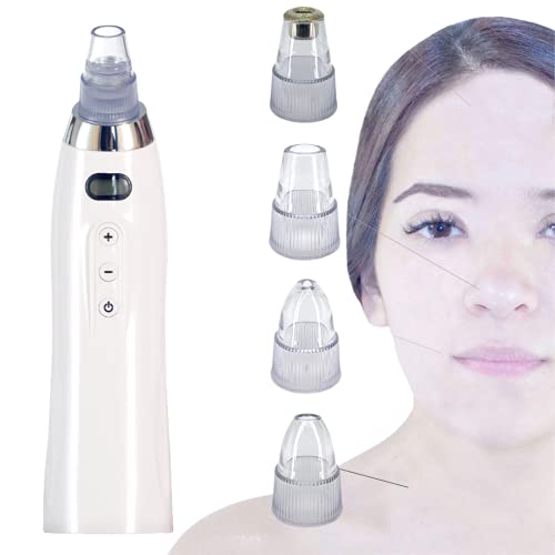 Blackhead Remover Vacuum 5 Suction Levels Pore Acne Comedone Extractor Tool 4 Replaceable Probes USB...