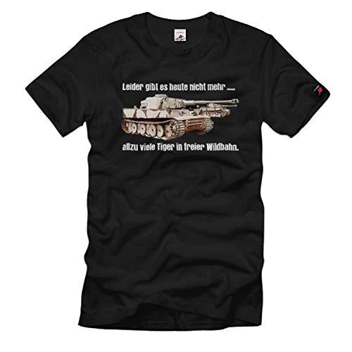 Copytec Tiger Panzer in freier Wildbahn Leider gibt es Heute Nicht mehr viele #11113, Größe:M, Farbe:Schwarz