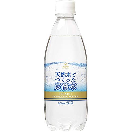 富永貿易 神戸居留地 炭酸水 PET 500ml ×24本 国内製造 ソーダ