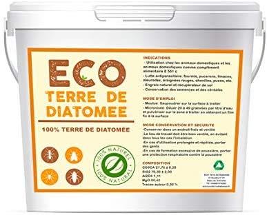 Livraison 24-48h Terre de Diatomée 5Kg 100% Naturelle | Non Calcinée | Alimentaire E551c |écologique | Naturel Contre Les Insectes