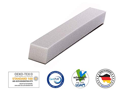 saarschaum Schaumstoffstreifen Matratzenverlängerung Matratzenausgleich Zuschnitt Polster HR4030 10x20x90cm