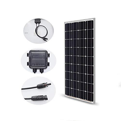 Panel solar 100W 200W 300W 400W 18V Célula monocristalina rígida de vidrio para 12 / 24V Cargador de batería Pannau Solaire RV Home Boat-PC 1