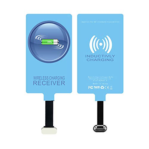 IVY QI Wireless Charging Receiver Adapter with Fast&Smart Microchip Technology for Samsung Galaxy A11/A21/A51/A71/A12/A02s/A32/A52/A31 Type-C