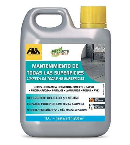 Fila Surface Care Solutions MANTENIMIENTO DE LAS SUPERFICIES, Limpiador de Suelos Concentrado con pH Neutro Ideal para todos tipos de pavimentos y revestimientos, también los más delicados, 1L