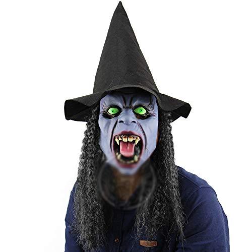 TYXHZL Halloween hoektanden nacht heksen Halloween bars spookhuis dance rekwisieten hooded horror hele lichaam masker