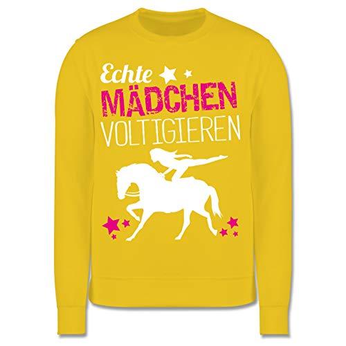 Sport Kind - Echte Mädchen voltigieren - 152 (12/13 Jahre) - Gelb - JH030K - Kinder Pullover