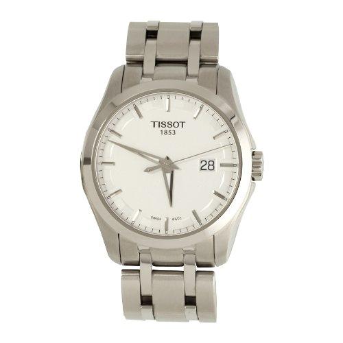Tissot COUTURIER Gent T0354101103100 - Reloj de Caballero de Cuarzo, Correa de Acero Inoxidable Color Plata