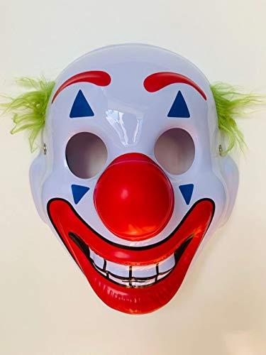 PartyGears Maschera Halloween Joker Film 2019 PVC Cosplay Rivoluzione Attore Carnevale Clown Divertente