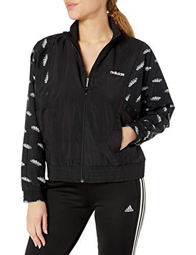 adidas Damen Favorites Trainingsjacke, Damen, Jacke, W Fav Tt Wv, schwarz / weiß, Medium
