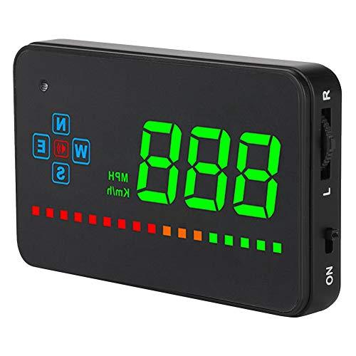 Affichage tête haute de voiture, affichage tête haute GPS universel HUD OBD MPH avertissement de vitesse HD Projection 8-18 V noir