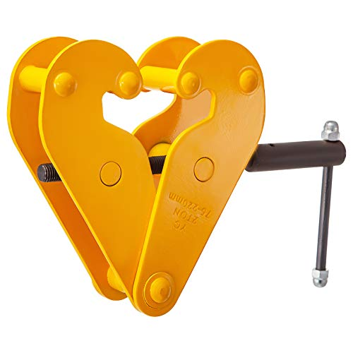 BestEquip Beam Clamp 4400lbs/2ton Capacity I Beam Lifting Clamp 3inch-9inch Opening Range Beam Clamps for Rigging Heavy Duty Steel Beam Clamp Tool Beam Hangers for Lifting Rigging in Yellow