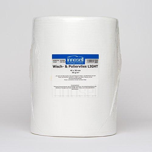 Vellón Gamuza la Industria Wiper pulir Light Rollo con 500abrissen (40x 38cm) 50g/m2