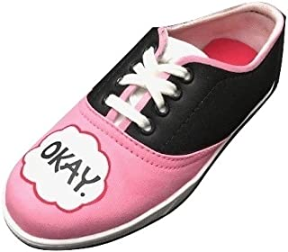FUNKY N TRENDY The Fault in Our Stars Theme Pink Handpainted Waterproof Women's Canvas Shoes