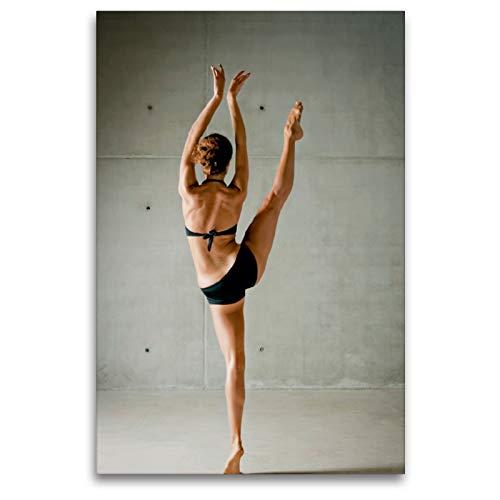 CALVENDO Alarga la Bailarina de la Pierna Desde atrás en la extensión Completa, 80 x 120 cm