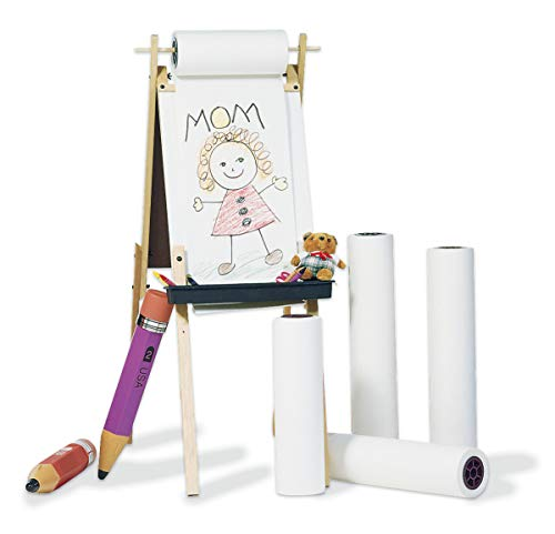 "Pacon Art Street Easel/Art Roll (P4763), 18"" x 200', White, 1 Roll"