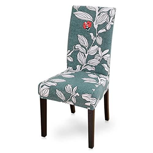 1/2/4/6pcs moderno impreso silla cubierta elástico asiento silla cubre desmontable y lavable estiramiento banquete hotel comedor cubierta estilo floral G1, China, 1 pc