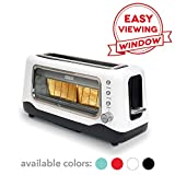 Dash DVTS501WH Clear View Extra Wide Slot Toaster with Stainless Steel Accents + See Through Window,...