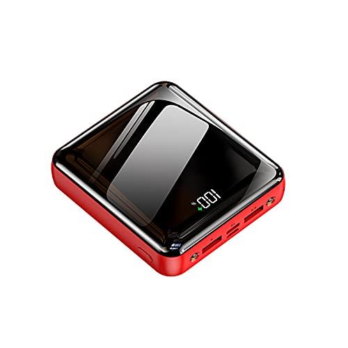 The perseids Mini cargador portátil de 10000 mAh, batería de carga rápida con 3 cables de carga con pantalla digital LED, compatible con iPhone, Huawei, Samsung Galaxy, Tablet y más (rojo)