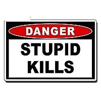 13cmx8.7cm愚かな殺害危険警告デカールOEMJDMカートラックバンパー車両