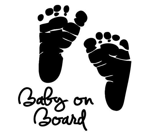 Glamour Girlz Zwarte Baby Voeten Kleine 10 cm Auto Raam Bumper Spiegel Aanstaande Zwangere Moederschap Gift Mums Baby Aan boord