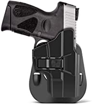 HQDA Taurus Millennium G2 G2C PT111 OWB Paddle Holster for PT132 PT138 PT140 PT145 PT745 (not pro) Concealed Carry Accessories Holster Pistols with Trigger Release 60° Cant