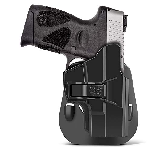 Taurus G2C Holsters, HQDA OWB Holster for Taurus G2C G3C G2S G3 TX22 Millennium G2 PT111 PT140 -Concealed Carry Paddle Holster Pistols -Right Handed