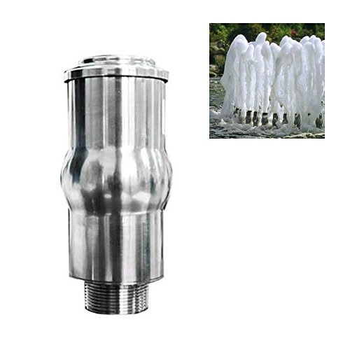 NAVADEAL 1 1/2' DN40 Full Stainless Steel Frothy Foam Water Fountain Nozzle Spray Pond Sprinkler Head