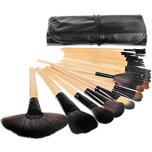 Pinceaux de maquillage 24pcs, outils de maquillage féminins, pinceau de fondation, pinceau de fondation, pinceau à sourcils, convient au maquillage quotidien et au jeu de scène,Flesh