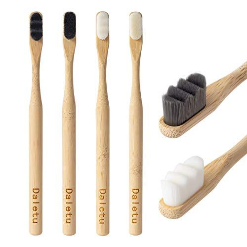 Cepillo de dientes de bambú Daletu, cepillos de dientes biodegradables con cerdas extra suaves, 20000 cepillo de dientes de cerdas naturales suaves, de cepillos de dientes ecológicos para dientes
